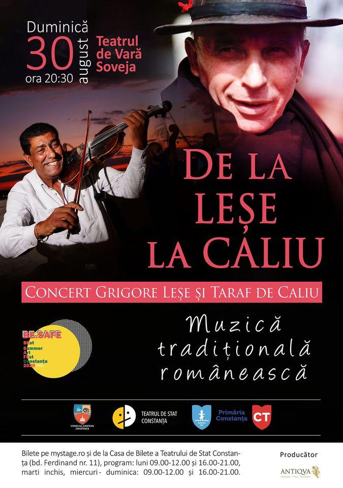 De la Leşe la Caliu. Concert Grigore Leșe și Taraf de Caliu