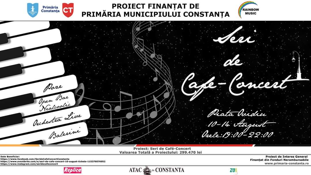 Seri de Café-Concert in perioada 10 August -14 August