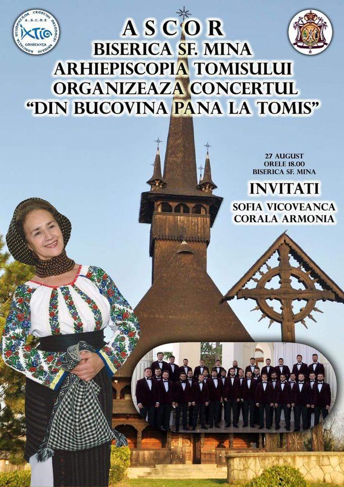 Concert excepțional în interpretarea Doamnei Bucovinei, Sofia Vicoveanca și Coralei Armonia