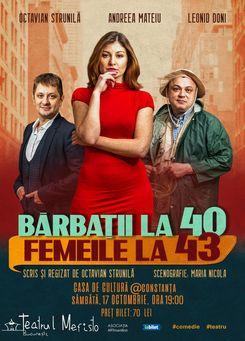 BARBATII LA 40 FEMEILE LA 43