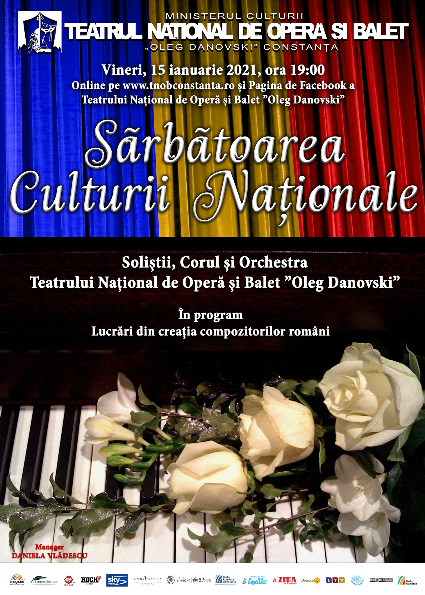 Sărbătoarea Culturii Naționale la Teatrului Național de Operă și Balet Oleg Danovski