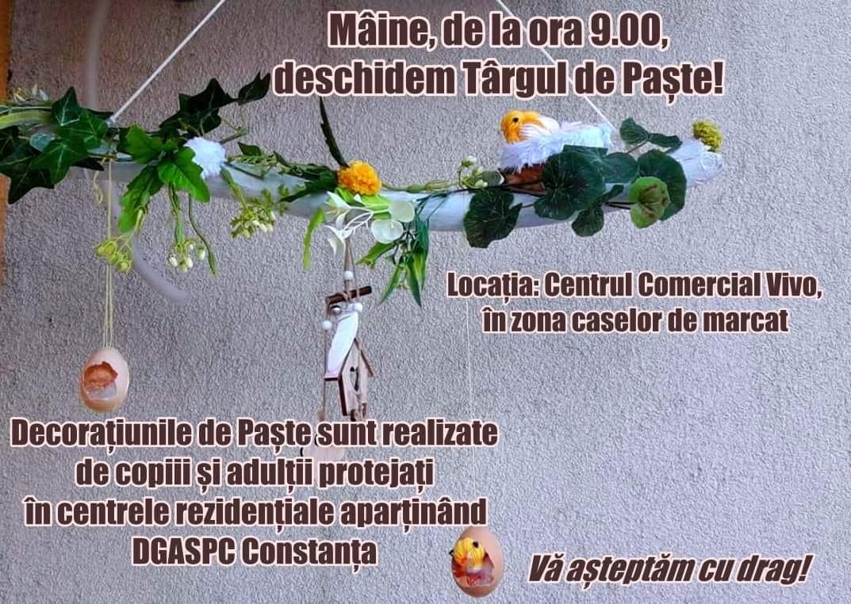 Targul de paste organizat de DGASPC Constanta